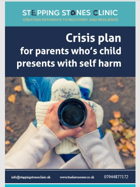 Crisis Plan for parents whos child presents with self harm